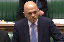 Sajid Javid speaking in the House of Commons