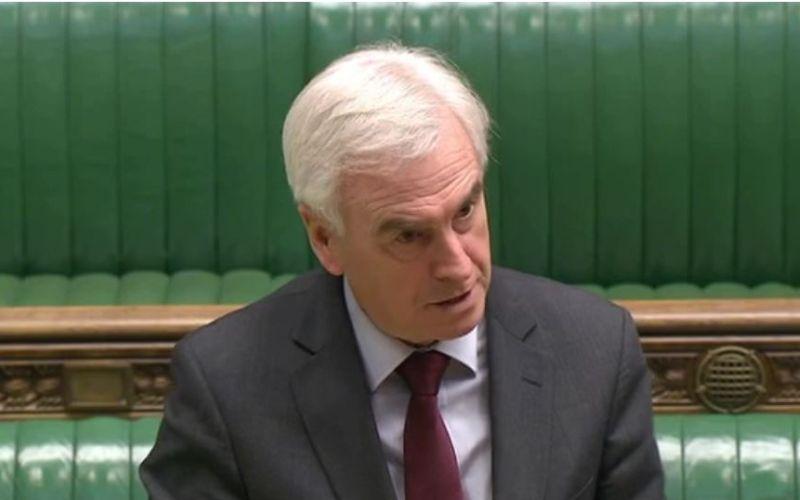 John McDonnell speaking in the Commons chamber