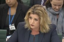 Penny Mordauny giving evidence to a parliamentary committee