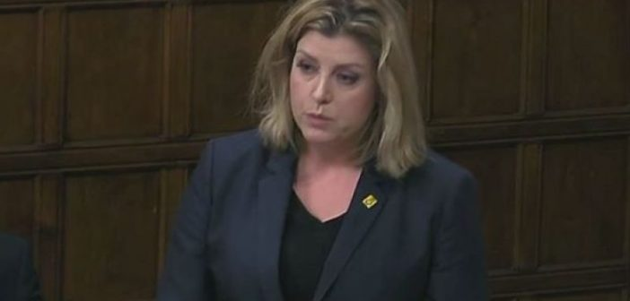 Penny Mordaunt speaking in Westminster Hall