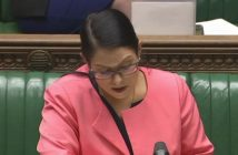 Priti Patel speaking in the House of Commons