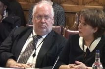 FRances Crook and Toby Harris giving evidence to the committee