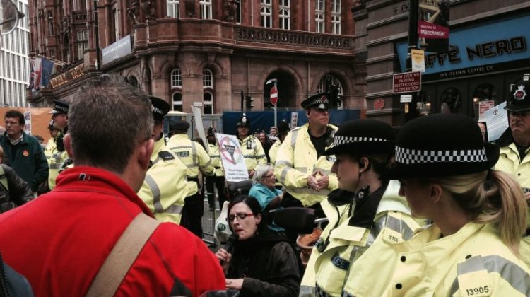 Police admit officers have no guidance on when to pass protesters' info to DWP