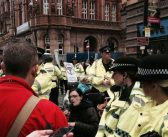 Tory conference police force admits sharing information on protesters with DWP