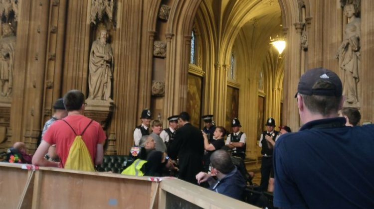 DPAC shortlisted for human rights award after parliament direct action