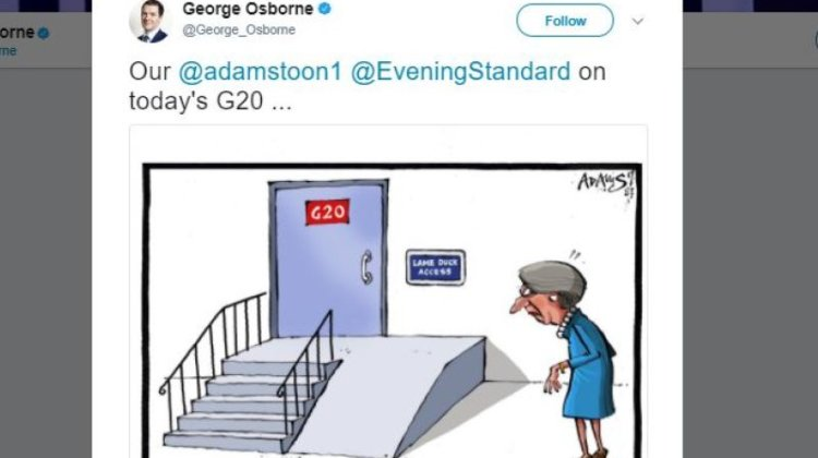 Osborne shares 'discriminatory' cartoon 'that breaches his own code of conduct'