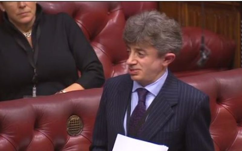 Lord Shinkwin speaking in the House of Lords