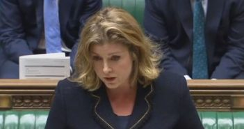 Penny Mordaunt speaking in the House of Commons