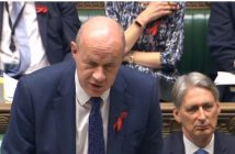 Damian Green speaking in parliament