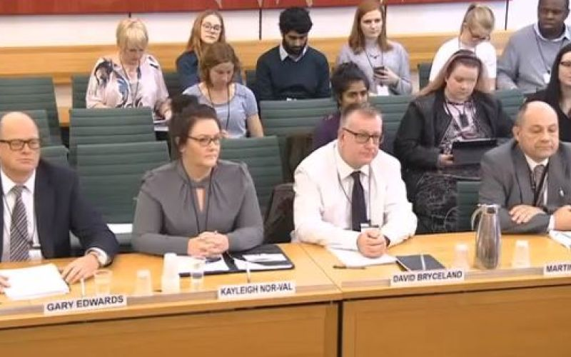 The four welfare rights expert giving evidence to the work and pensions committee