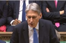 Philip Hammond delivering the budget speech