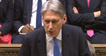 Philip Hammond delivering the budget speech