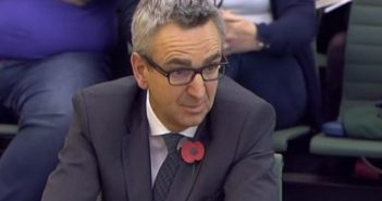 Tim Hollingsworth giving evidence to the committee