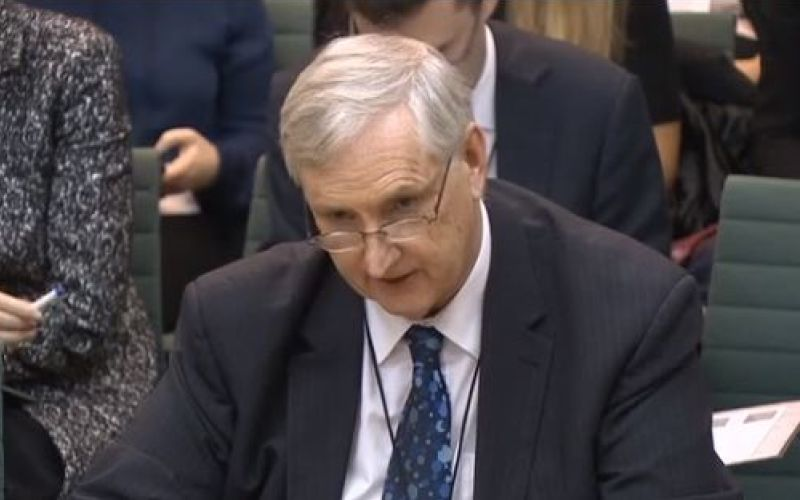 Paul Litchfield giving evidence to a Commons committee