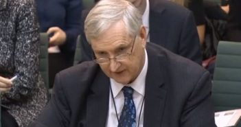 Paul Litchfield giving evidence to the committee