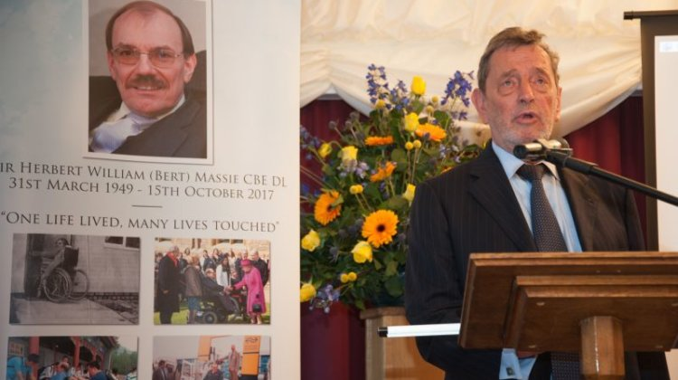 Friends pay tribute to tenacity, wit and wisdom of Sir Bert Massie