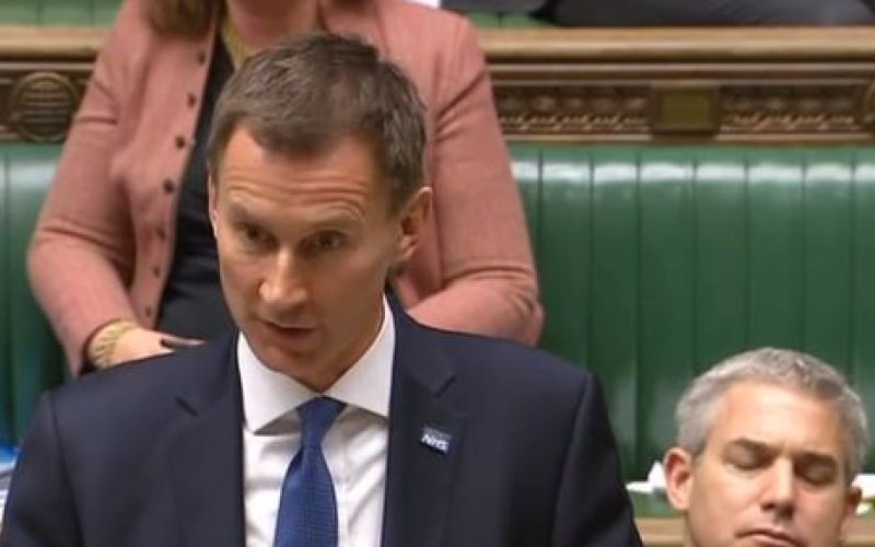 Jeremy Hunt speaking in the House of Commons