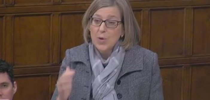 Sarah Newton speaking in Westminster Hall