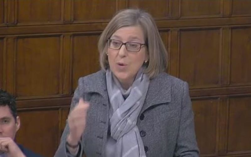 Sarah Newton speaking in Westminster Hall