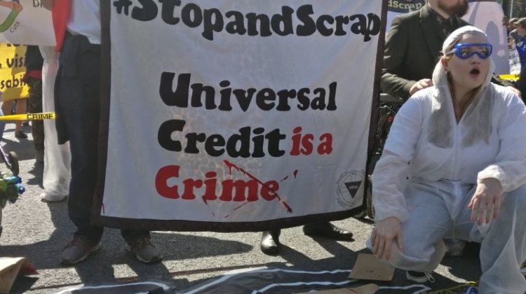 DPAC's universal credit 'crime scene' protest is fresh call for action to disabled people