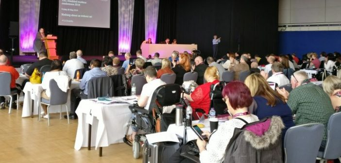Delegates at the disabled workers' conference