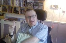 Chris Bye in his wheelchair