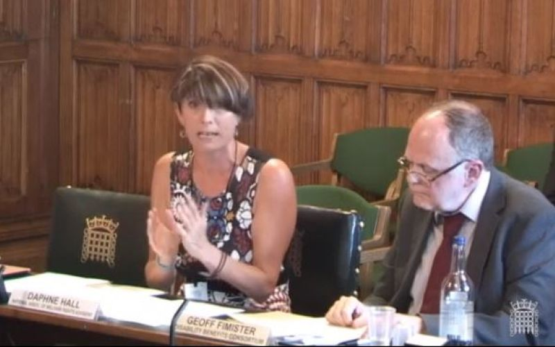Daphne Hall gives evidence, with another witness next to her