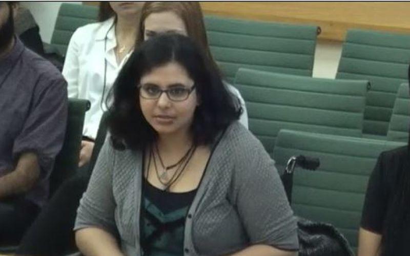 Jen Fidai giving evidence