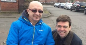 Jon Fletcher with Labour politician Andy Burnham