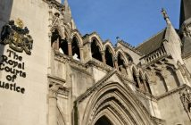The outside of the Royal Courts of Justice