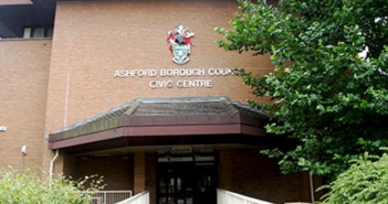 Front entrance of civil centre of Ashford Borough Council
