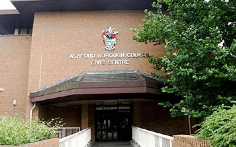 Front entrance of civil centre of Ashford Borough Council