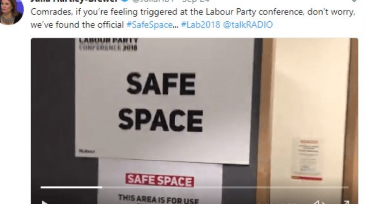 Labour conference: Right-wing journalist faces ban call after 'safe space' video