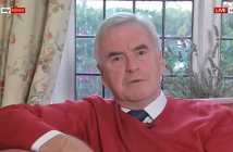 John McDonnell sitting on a sofa