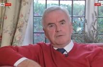 John McDonnell sitting on a sofa