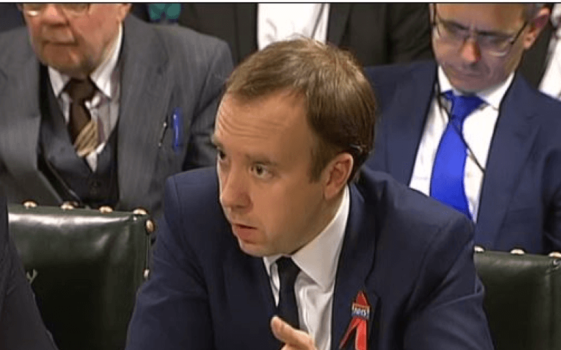 Matt Hancock giving evidence