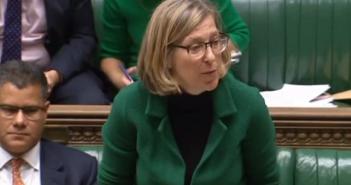 Sarah Newton speaking in parliament