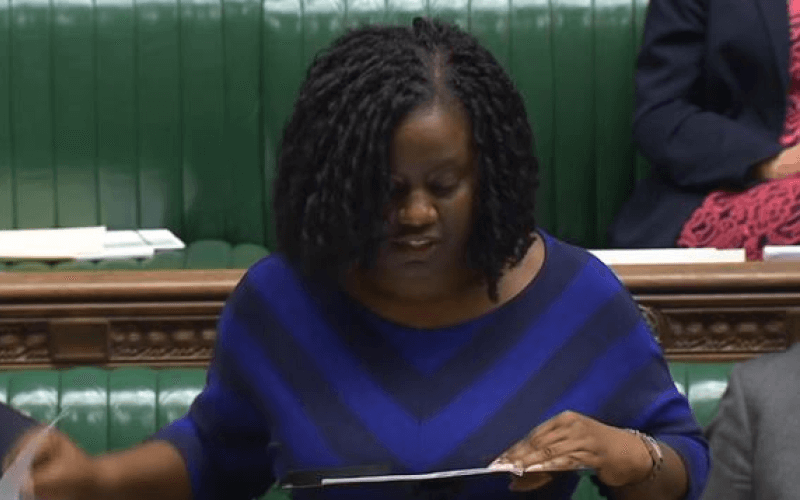 Marsha de Cordova speaking in the House of Commons chamber