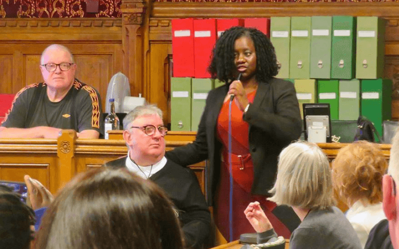 Marsha de Cordova speaking in a House of Commons committee room