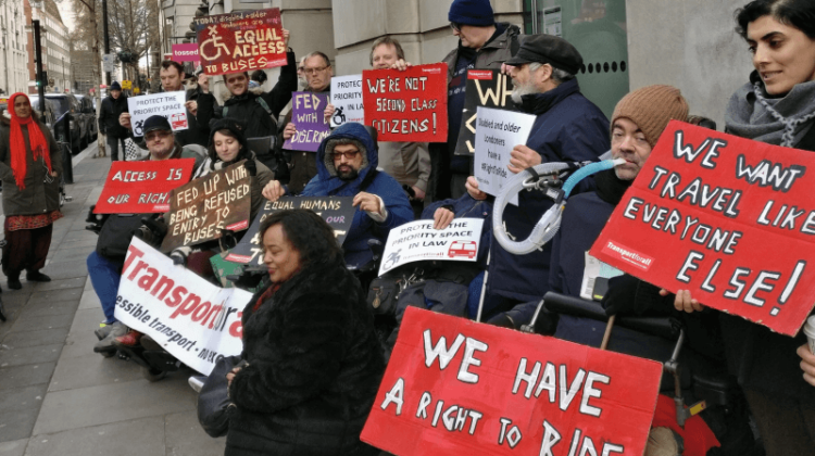 Two years on from Supreme Court bus ruling, protesters call for overdue action