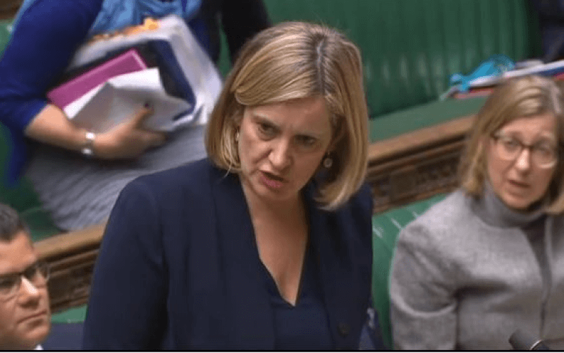 Amber Rudd speaking in the House of Commons