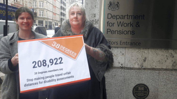DWP handed petition of 200,000 names on benefit assessment travel