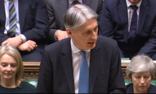 Philip Hammond in the Commons chamber