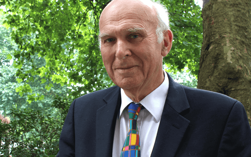 Vince Cable head and shoulders