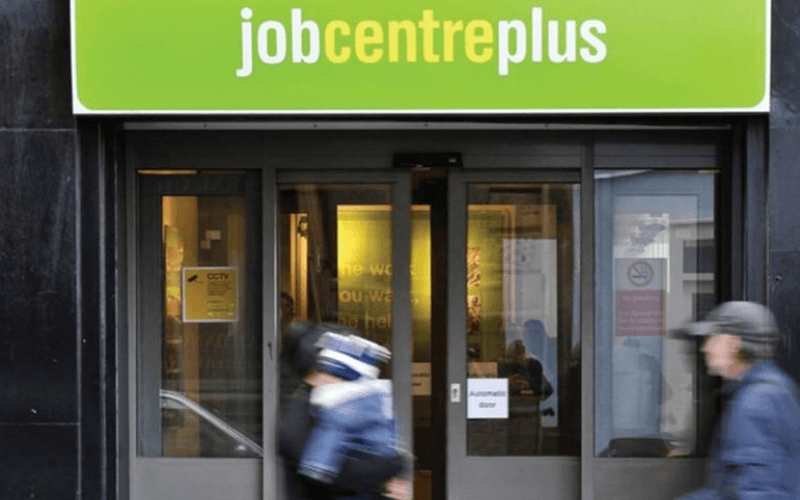The entrance to a jobcentre