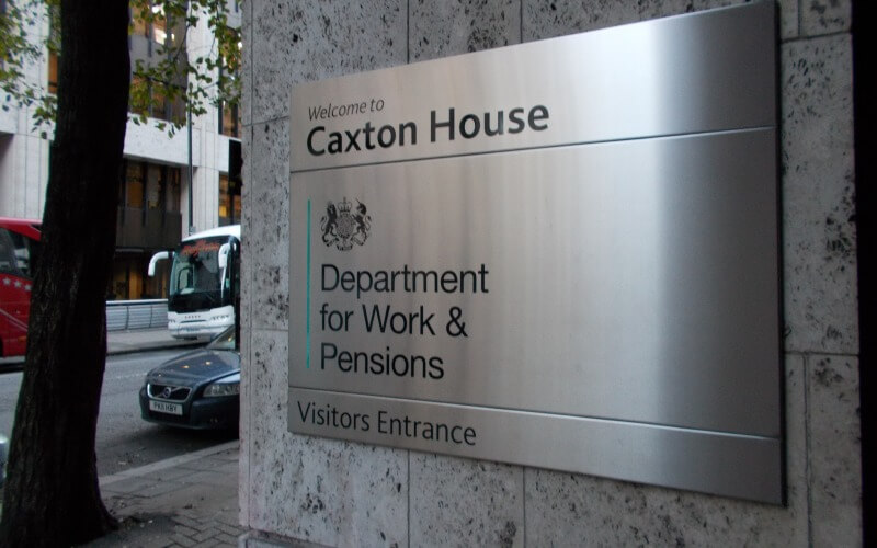 DWP entrance at Caxton House, Westminster