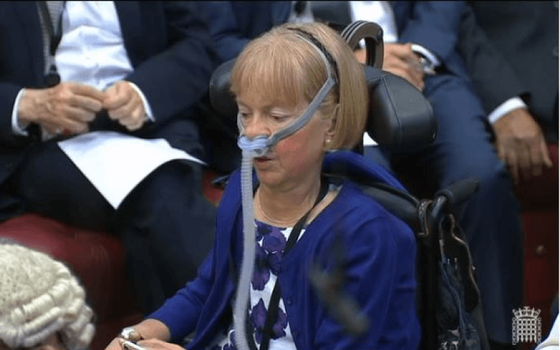 Baroness Campbell speaking in the Lords