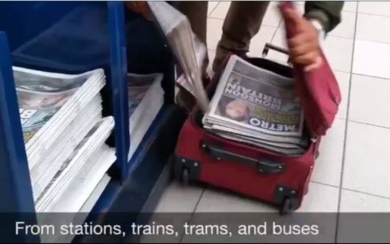 Metro newspapers being removed