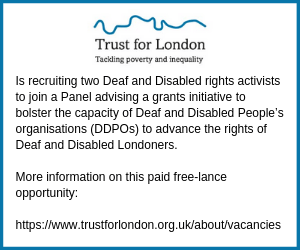 Trust for London are recruiting for their Grants Advisory Panel