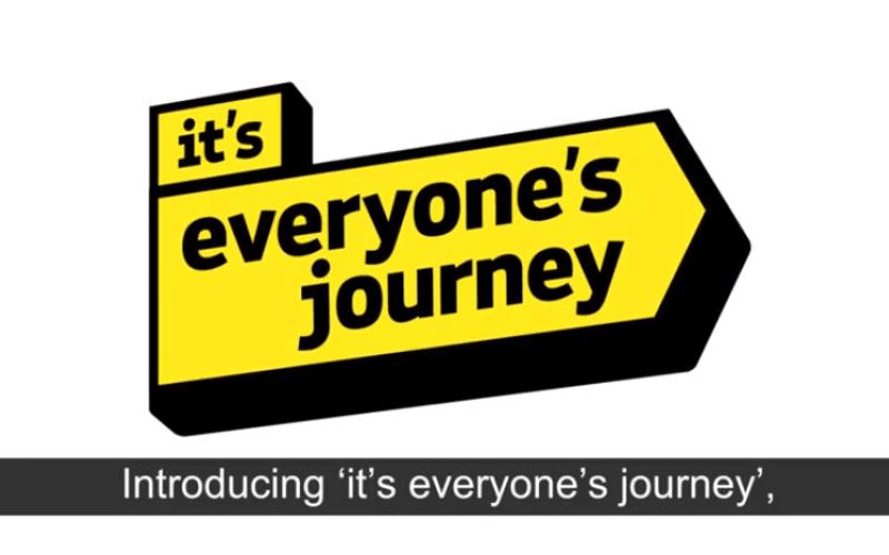 Yellow logo of It's Everyone's Journey